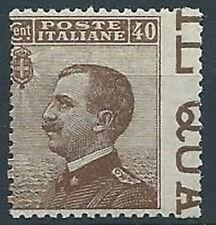 1908 REGNO EFFIGIE 40 CENT VARIETà MNH ** - RR13812