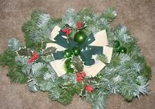 Vintage Christmas Holiday Decoration Bows Green Ball Ornaments Swag Bows