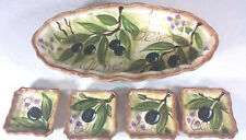 Tabletop Unlimited Olives Oval Serving Dish and bon appetite plate Hand Painted