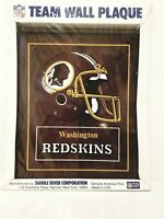 NFL Washington Redskins Solid Amreican Pine Wood Team Wall Plaque 11 x 13. NEW
