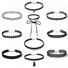 1set Womens Fashion Tattoo Lace Necklace Choker Velvet Bib Necklace Jewelry NEW