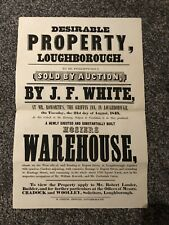 More details for 1849 property auction poster, griffin inn, zachariah onion, loughborough [#33]