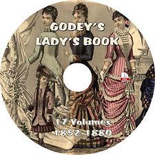 Godey's Magazine & Lady's Book (17 Vintage Fashion Volumes, 1852-1880) on DVD