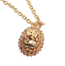 "Auth New Kate Spade New York Pave Hedgehog Pendant Necklace 12k Gold 28"" Hog"