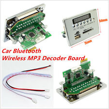12V LED Car Bluetooth Wireless MP3 Decoder Board Audio Module USB SD TF FM Radio