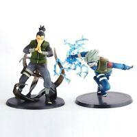 2 pcs Figures Set Naruto Kakashi Hatake & Shikamaru Nara Action Statue Toys