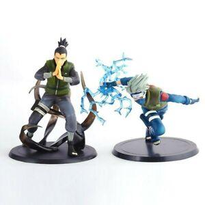 2pcs 6'' Naruto Kakashi Hatake & Shikamaru Nara Figures Action Toy Statue Gift