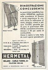 W1435 Guarnizioni per infissi HERMETAL - Pubblicità del 1956 - Old advertising
