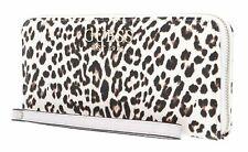 GUESS Lorenna SLG Large Zip Around Geldbörse Leopard Beige Braun Neu