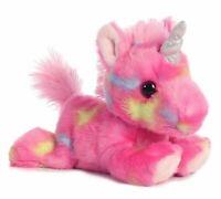 "Aurora 7"" Jellyroll Unicorn Stuffed Animal Toy Bright Fancies Collection"