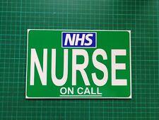 NURSE ON CALL DASHCARD Medic Paramedic FIRST RESPONDER COMMUNITY dash card