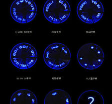 1x blue Bike Bicycle Wheel Valve Tire Tyre 7 LED Letter Graphic Light usa ship