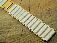 Seiko NOS Vintage Unused 2 Tone Base Metal Butterfly Clasp Watch Band 15mm