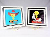"Vintage Looney Tunes Tweety Bird ""FEARLESS "" TWY IT""  Framed Carnival  Prints"