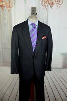 Lord R Colton Men's Black Gray & Brown Windowpane Plaid Wool Suit 44L 44 L
