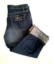 Columbia Women's Jeans Size 6 Cropped Capri Flap Pocket Medium Wash Denim Cuffed