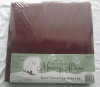 Westrim 12x12 Brown Leatherette Scrapbook Album Cover 11 sheets 22 Pages NIP