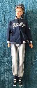 New York Yankees Barbie Doll Mattel 1999 Baseball Vintage