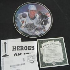 "Heroes On Ice ""The Great Gretzky"" Plate by Artist Ron DeFelice"