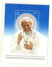 Vatican 2014 Canonization Pope John Paul II MNH Blue S/S