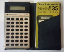 Texas Instruments Slimline Ti35 scientific calculator/case/manual-ba ttery op.
