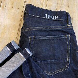 Gap 1969 Japanese Selvedge Redline Straight Denim Jeans 31x30 (31X29.5)