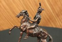 Federic Remington~THE SCALP~Bronze Statue on Marble Base~Sioux Warrior Figurine