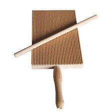 Kitchen Italian Garganelli Gnocchi Board Stripper Wood Paddle Pasta Roll Dough