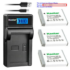 Kastar Battery LCD USB Charger for Canon NB-6L NB-6LH & Canon PowerShot SX530 HS