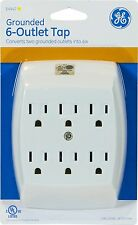 General Electric 54947 6-Outlet Grounded Tap, White