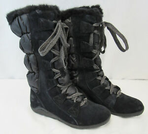 NEW Women's Timberland Parkin Lace Up Black Boots Size 6 M