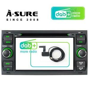 For Ford FOCUS Transit Mk7 Kuga S/C-Max Car DVD Stereo DAB+ Radio GPS Sat Nav BT