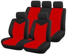 Housse pour siege de voiture 9 pieces noir et rouge STAR compat airbags