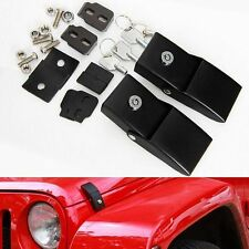 US ship 2x Metal Locking Hood Catch Latches Kit for Jeep Wrangler JK 07-18 2D/4D