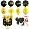 """10pcs 12"""" Number Ages Latex Balloon 30 40 50 60 30th Happy Birthday Party Decor"""