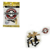 """Independent Skateboard Hardware 7/8"""" Phillips Black/Gold - 8 Nuts/Mounting Bolts"""