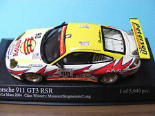 Porsche 911 GT3 RSR in white and sponsors decals  Minichamps 1:43rd .scale