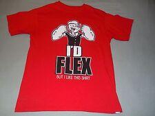 Popeye The Sailor Man I'd Flex But I Like This Shirt Muscle Man T-Shirt Youth XL
