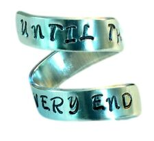 Until The Very End- Harry Potter Inspired Quote Ring- Aluminum Ring, wrap ring