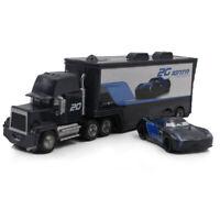Cars 3 Toys Jackson Storm Mack Hauler Truck & Racer Metal Toy Car 1:55 Loose