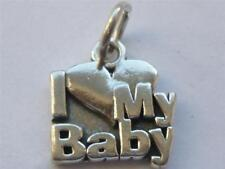 925 STERLING SILVER I LOVE MY BABY CHARM FITS LINK BRACELETS NECKLACES A10