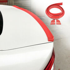 """59"""" Universal Car Rear Wing Lip Spoiler Sticker 3D Glossy Red Tail Trunk Trim"""