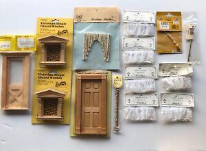miniature dollhouse Door and Windows lot 1:12