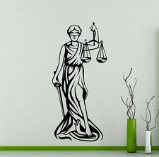 Lady Justice Wall Decal Femida Law Vinyl Sticker Interior Decoration Mural (9xx)