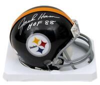 Jack Ham Pittsburgh Steelers Signed/Autographed Black Mini Helmet JSA 129587