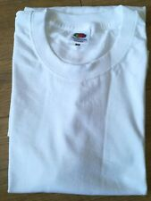 White Fruit Of The Loom Tee Top T-shirt Size M 100% Cotton
