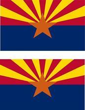 2 x Autocollant sticker voiture moto vinyl drapeau USA americain arizona