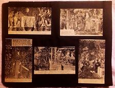 ANGERS FRANCE LOT OF 8 POSTCARDS DEPICTING TAPESTRIES MUSEUM HOTEL GLUED PAPER