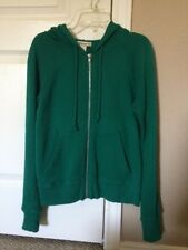 Forever Juniors Zip Up Hoodie Size Small Green