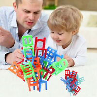 18Pcs balance chairs board game funny colorful toys kids educational balance~SG